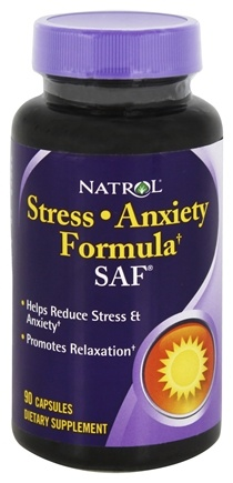 DROPPED: Natrol - SAF Stress & Anxiety Formula - 90 Capsules