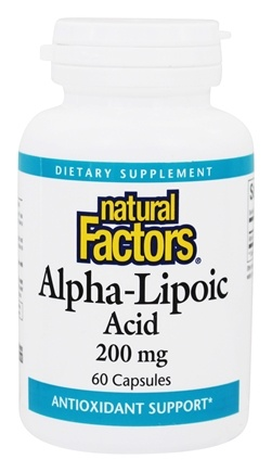 DROPPED: Natural Factors - Alpha-Lipoic Acid 200 mg. - 60 Capsules CLEARANCE PRICED