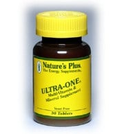 DROPPED: Nature's Plus - Ultra-One Multi Vitamin and Mineral Supplement - 60 Tablets