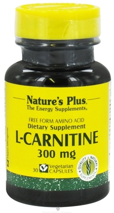DROPPED: Nature's Plus - L-Carnitine Free Form Amino Acid 300 mg. - 30 Vegetarian Capsules CLEARANCE PRICED