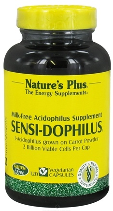 DROPPED: Nature's Plus - Sensi-Dophilus Carrot-Based Milk-Free - 120 Vegetarian Capsules CLEARANCE PRICED