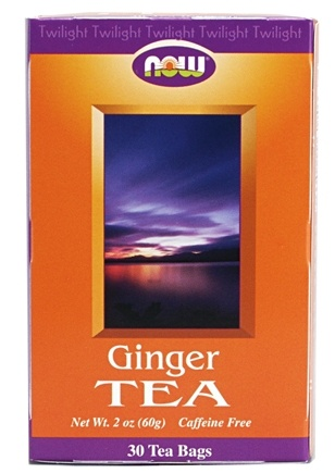 DROPPED: NOW Foods - Ginger Tea Twilight Caffeine Free - 30 Tea Bags