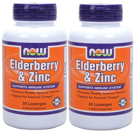 DROPPED: NOW Foods - Elder-Zinc Twin Pack Special - 60 Lozenges