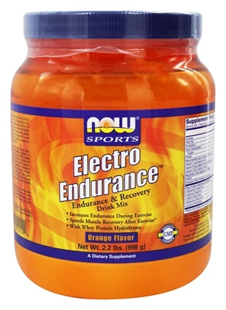 DROPPED: NOW Foods - Electro Endurance Drink Mix Orange Flavor - 2.2 lbs. Formerly ElectroPro