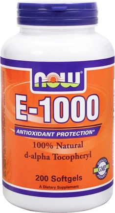 DROPPED: NOW Foods - E-1000 D-Alpha Tocopherol - 200 Softgels CLEARANCE PRICED