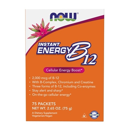 NOW Foods - Instant Energy B12 2000 mcg. - 75 Packet(s)