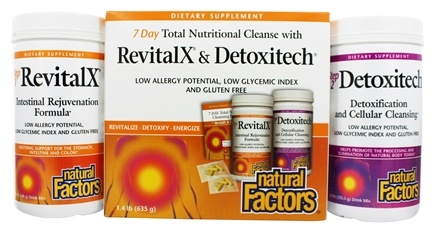 Natural Factors - 7-Day Total Nutritional Cleanse With RevitalX & Detoxitech