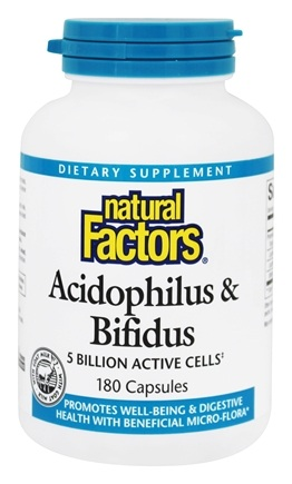 DROPPED: Natural Factors - Acidophilus & Bifidus with Goat Milk 5 Billion Active Cells - 180 Capsules