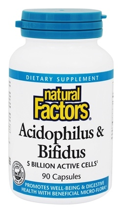 DROPPED: Natural Factors - Acidophilus & Bifidus with Goat Milk - 90 Capsules CLEARANCE PRICED