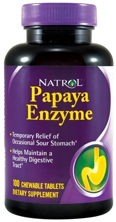 DROPPED: Natrol - Papaya Enzyme - 100 Chewable Tablets CLEARANCE PRICED