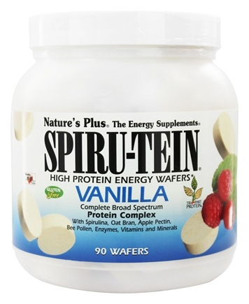 Nature's Plus - Spiru-Tein High Protein Energy WAFERS Vanilla - 90 Wafers