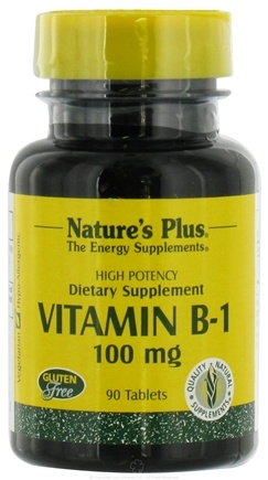 DROPPED: Nature's Plus - Vitamin B1 100 mg. - 90 Tablets