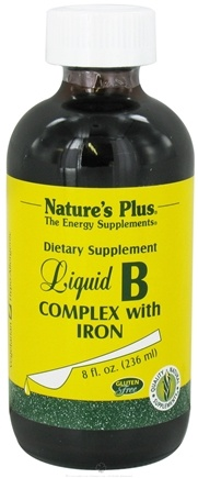 DROPPED: Nature's Plus - Liquid B-Complex with Iron - 8 oz.
