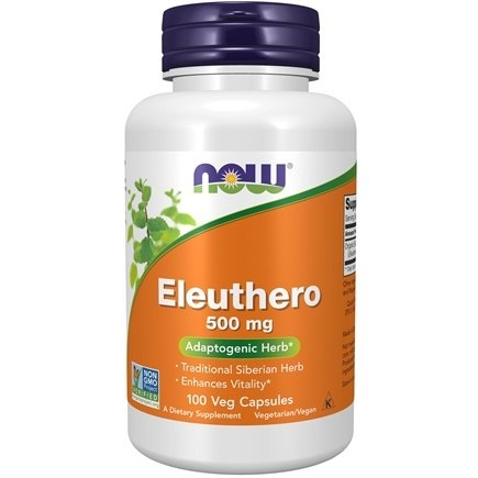 NOW Foods - Eleuthero 500 mg. - 100 Capsules