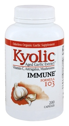 Kyolic - Formula 103 Aged Garlic Extract With Vitamin C, Astragalus, Mushrooms - 200 Capsules