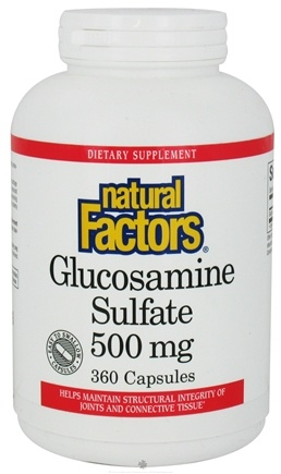 Natural Factors - Glucosamine Sulfate 500 mg. - 360 Capsules