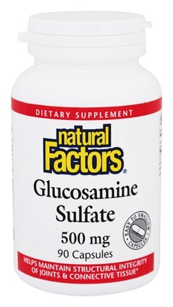 DROPPED: Natural Factors - Glucosamine Sulfate 500 mg. - 90 Capsules