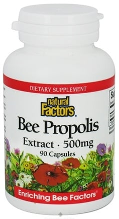 DROPPED: Natural Factors - Bee Propolis Extract 500 mg. - 90 Capsules CLEARANCED PRICED