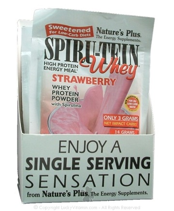 DROPPED: Nature's Plus - Nature's Plus Spiru-Tein Whey Sweetened For Low Carb Diets Strawberry - 1 Packet(s)
