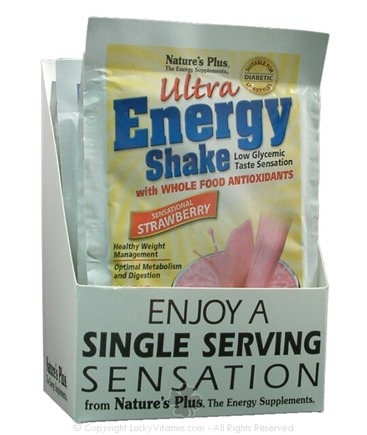 DROPPED: Nature's Plus - Ultra Energy Shake Single Serving Strawberry - 1 Packet(s)