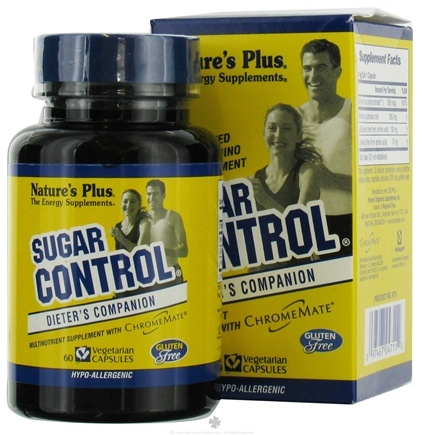 DROPPED: Nature's Plus - Sugar Control Sugar Craver's Formula - 60 Vegetarian Capsules CLEARANCE PRICED