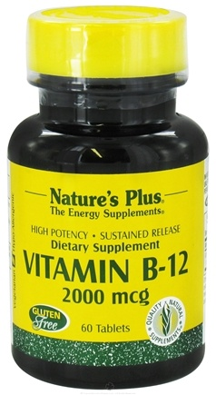 Nature's Plus - Vitamin B12 Sustained Release 2000 mcg. - 60 Tablets