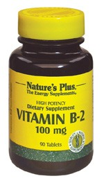 DROPPED: Nature's Plus - Vitamin B-2 100 mg. - 90 Tablets