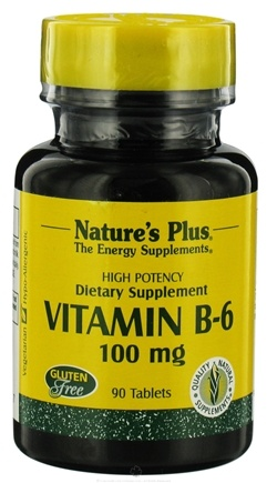 DROPPED: Nature's Plus - Vitamin B-6 100 mg. - 90 Tablets