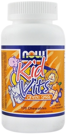 DROPPED: NOW Foods - Kid Vits Multi-Vitamin Orange Splash - 120 Chewable Tablets