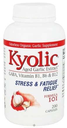 DROPPED: Kyolic - Formula 101 Aged Garlic Extract Stress & Fatigue Relief - 200 Capsules Formerly Brewer's Yeast Energy Formula CLEARANCE PRICED