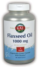 DROPPED: Kal - Flaxseed Oil 1000 mg. - 90 Softgels