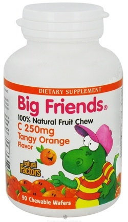 DROPPED: Natural Factors - Big Friends Chewable Vitamin C Tangy Orange Flavor 250 mg. - 90 Chewable Wafers