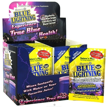 DROPPED: Nature's Plus - Source of Life Blue Lightning Antioxidant Energy Drink Packets - 20 Packet(s) CLEARANCE PRICED