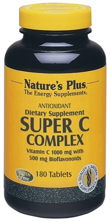 DROPPED: Nature's Plus - Super C Complex 1000 mg. - 180 Tablets