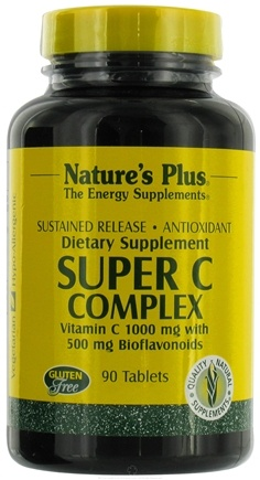 DROPPED: Nature's Plus - Super C Complex Sustained Release - 90 Tablets CLEARANCE PRICED
