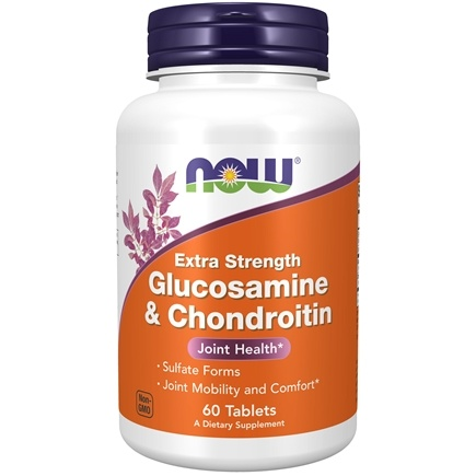 NOW Foods - Glucosamine and Chondroitin Sulfate Extra Strength Joint Health - 60 Tablets