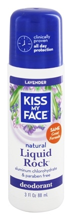 Kiss My Face - Liquid Rock Roll-On Deodorant Lavender - 3 oz.