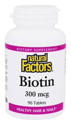 DROPPED: Natural Factors - Biotin 300 mcg. - 90 Tablets CLEARANCE PRICED