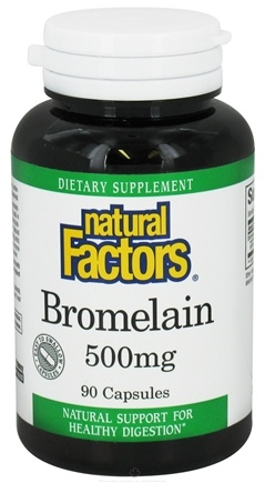DROPPED: Natural Factors - Bromelain 500 mg. - 90 Capsules