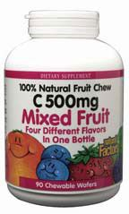 DROPPED: Natural Factors - C Natural Fruit Chews - Mixed Fruit - 90 Tablets