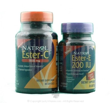 DROPPED: Natrol - Ester C 500 mg (Not as pictured, No Ester E included) - 60 Capsules
