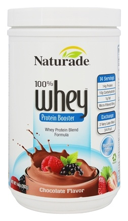 DROPPED: Naturade - 100% Whey Protein Booster Chocolate Flavor - 14 oz.