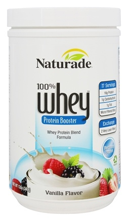 DROPPED: Naturade - 100% Whey Protein Booster Vanilla Flavor - 12 oz.