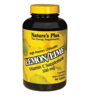 DROPPED: Nature's Plus - Vitamin C 500 Mg Chewable Lemon/Lime 500 mg. - 180 Chewable Tablets