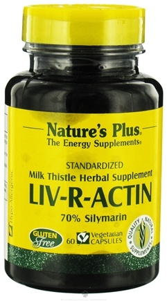 DROPPED: Nature's Plus - Liv-R-Actin Milk Thistle Herbal Supplement - 60 Vegetarian Capsules