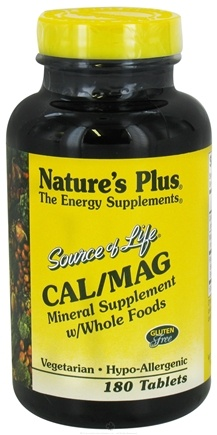 Nature's Plus - Source of Life Cal/Mag 500/250 Mg - 180 Tablets