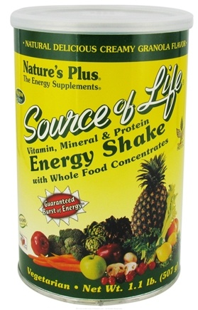 DROPPED: Nature's Plus - Source Of Life Energy Shake - 1.1 lbs. CLEARANCE PRICED