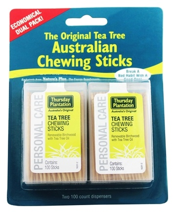 DROPPED: Thursday Plantation - The Original Australian Tea Tree Chewing Sticks (Toothpicks) Twin Pack Special - 200 Stick(s)