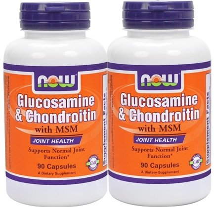 DROPPED: NOW Foods - Glucosamine 500/Chondroitin 400 Plus MSM (90+90) Twin Pack - 180 Capsules