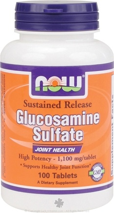 DROPPED: NOW Foods - Glucosamine Sulfate Sustained Release Joint Support 1100 mg. - 100 Tablets x2 1100 mg Extra Strength